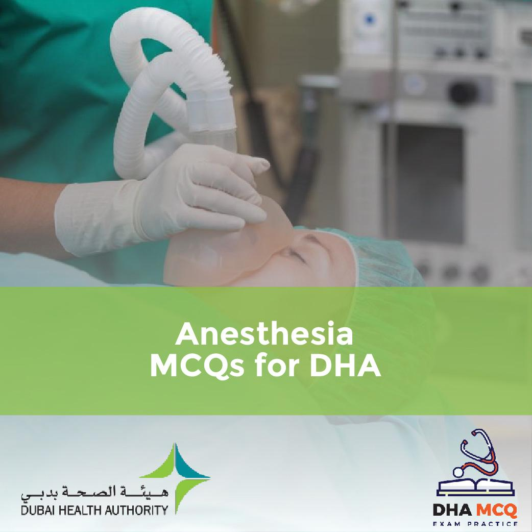 Anesthesia MCQs for DHA