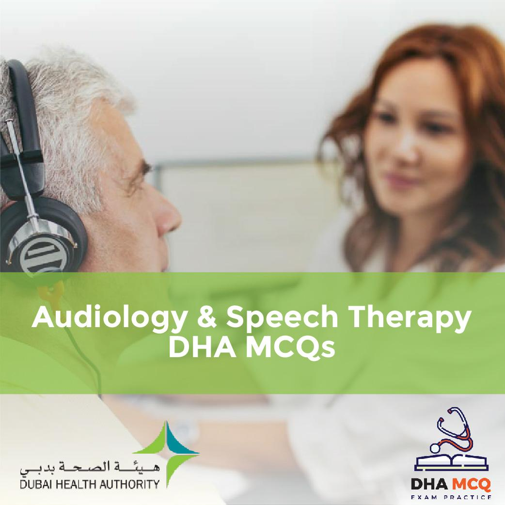 Audiology & Speech Therapy DHA MCQs